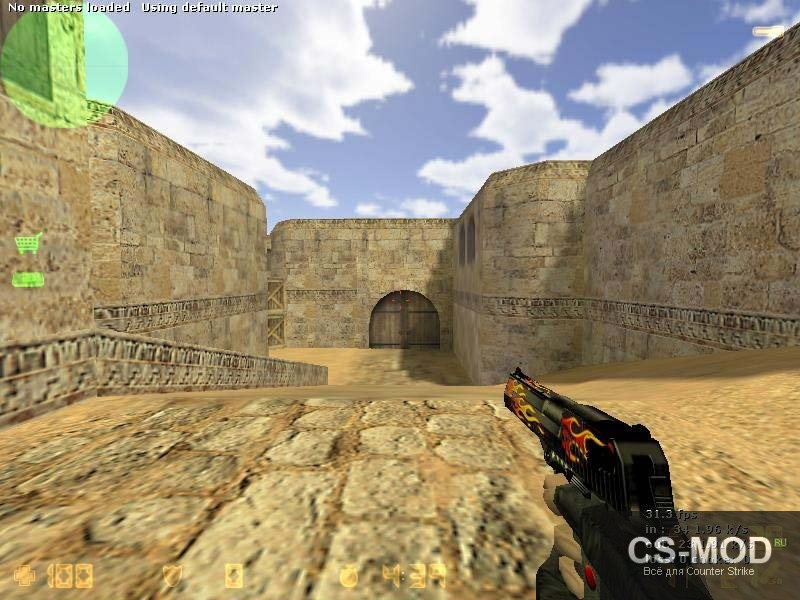 Модель Flames Deagle с целью CS 0.6