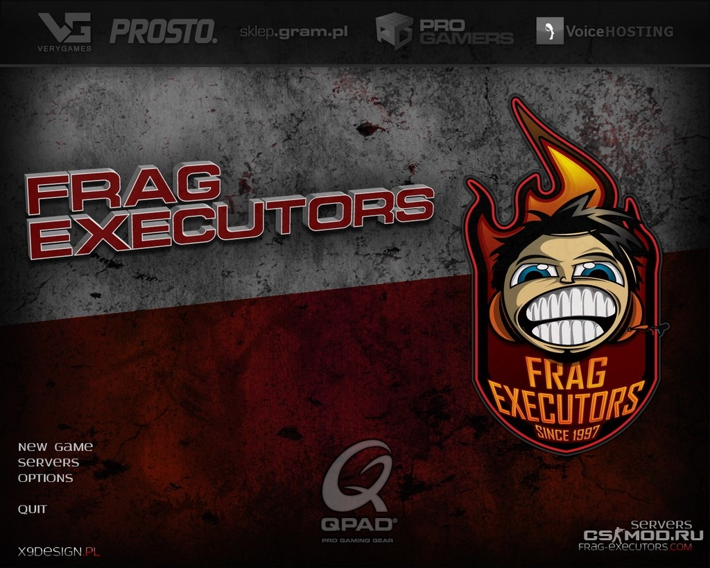 Тема меню «Frag Executors v3.0» для CS 1.6