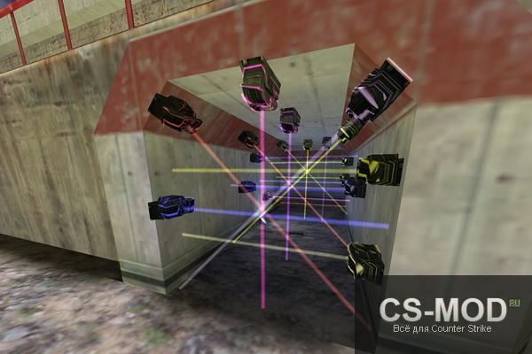 лазеры/мины в кс 1.6